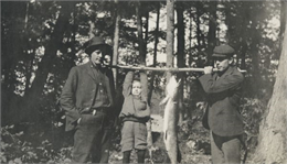 Dr. Hoover and Rev. John Robertson Macartney with Pickeral at Maiden Lake