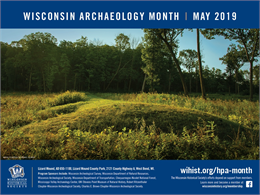 Lizard Mound 2019 Archaeology Month Poster