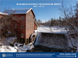 Dells Mill 2019 Historic Preservation Month Poster