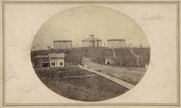 First Buildings UW-Madison Campus, 1865, WHI 1885