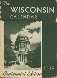Photograph of the 1948 Society calendar cover page