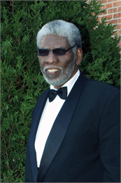 Photograph of Fred Reed wearing a tuxedo