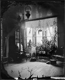"Parlor Interior of Herman Amberg Preus's Parsonage. The image appeared in the ""Americans at Home"" section of the 1975 Wisconsin Historical Calendar."