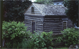This pioneer cabin, located behind the Milton House inn, is connected to the house by a tunnel that was dug by Joseph Goodrich with the intention of hosting freedom seekers. MILTON HISTORICAL SOCIETY