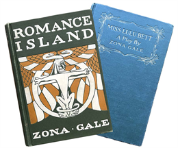 The books, Romance Island, published in 1906; and, Miss Lulu Bett, written by Zona Gale