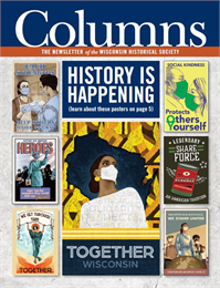 September December 2020 Columns Cover with 7 Posters from the Big History is Happening Covid-19 Poster Project