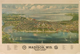 Bird's-Eye View of Madison 1908 Madison. WHI 3160.