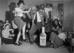Dancing Around Whiskey Bottle. WHI 65487.